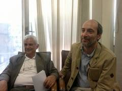 From right to left: Prof. Marco Di Branco and Prof. Hasan Afzalinejad at the Parliament Library, Tehran (Iran).